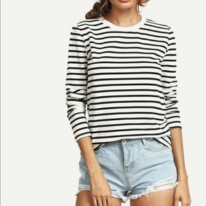 🌻 SHEIN Striped Long Sleeved Tee Shirt
